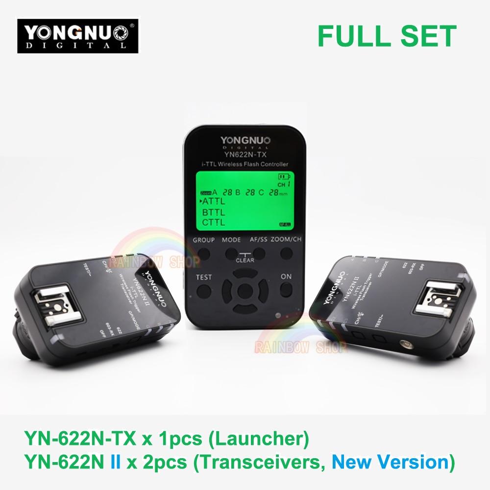 3in1 Yongnuo YN622N II + YN622N-TX i-TTL Wireless Flash Trigger Transceiver for Nikon Camera Yongnuo YN565 YN568 YN685 Flash New yn e3 rt ttl radio trigger speedlite transmitter as st e3 rt for canon 600ex rt new arrival