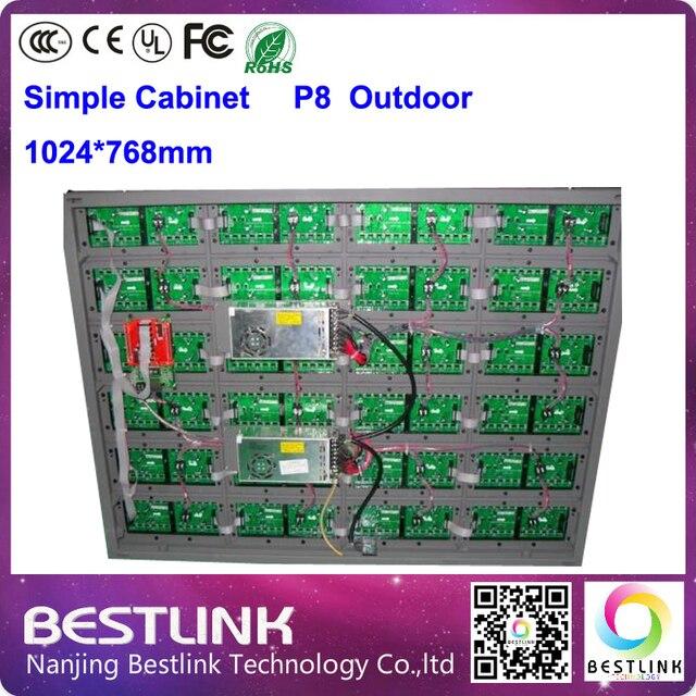 Открытый dip-p8 4 сканирования rgb из светодиодов модуль для 1024 * 768 мм из светодиодов простой кабинет из светодиодов табло из светодиодов видеостены открытый из светодиодов реклама
