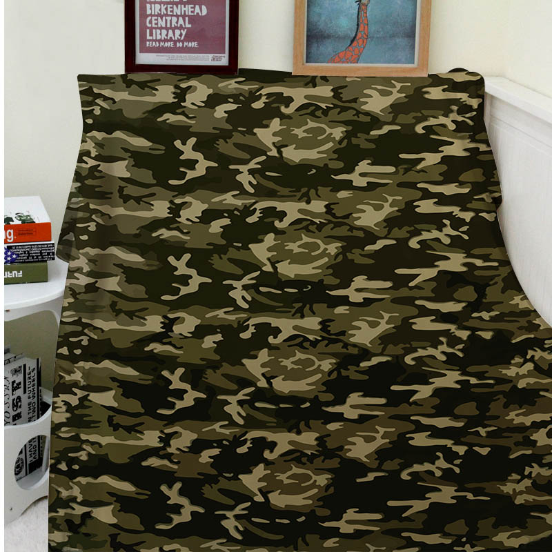 Blankets Comfort Warmth Soft Cozy Air conditioning Easy Care Machine Wash Camouflage Protective coloration
