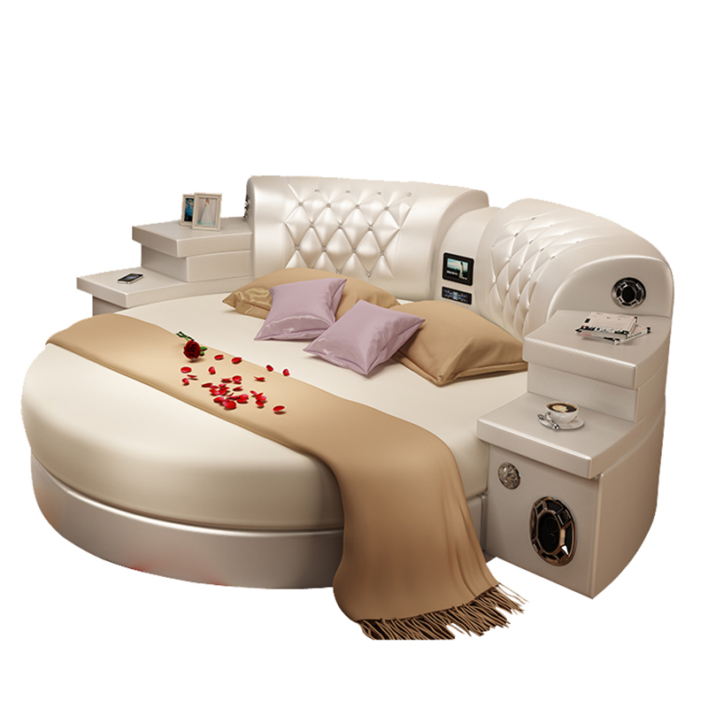 US $1699.0 |modern furniture bedroom sets king size leather round bed with  speaker-in Bedroom Sets from Furniture on Aliexpress.com | Alibaba Group