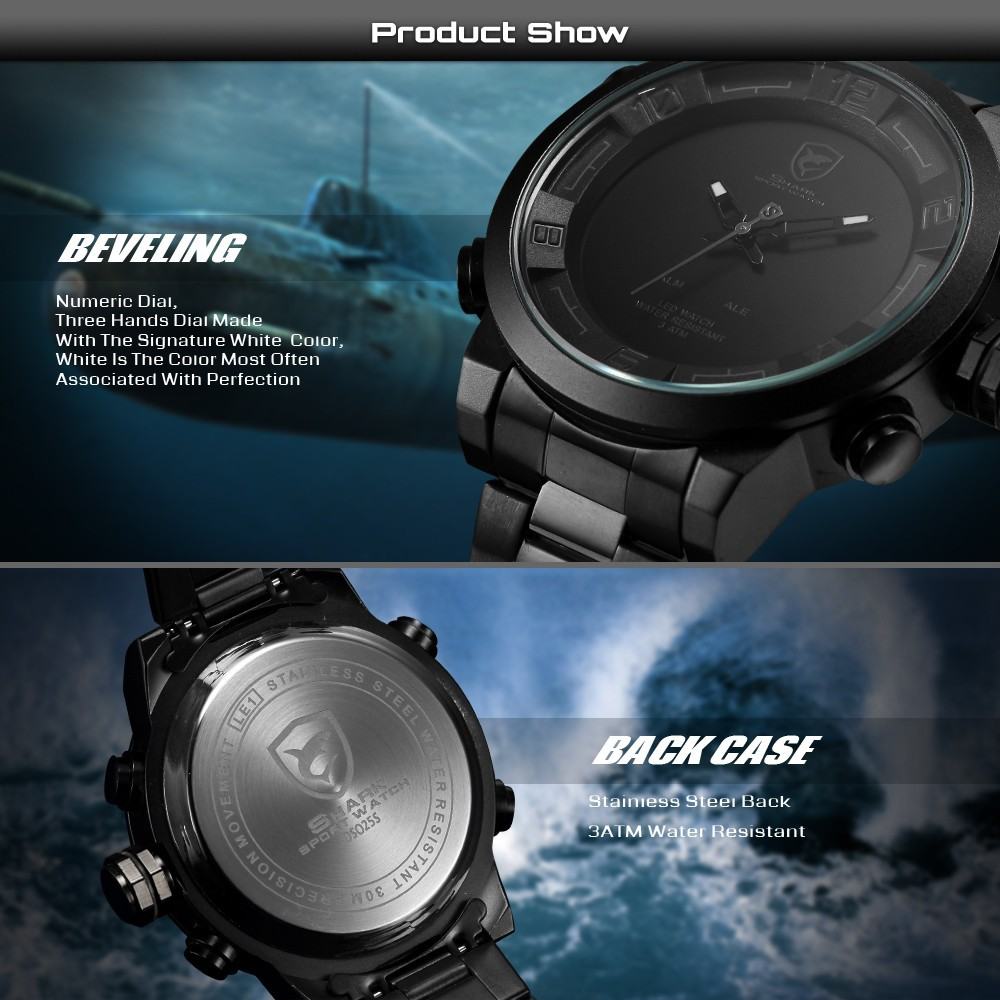 Multi-functional Analog Digital watch