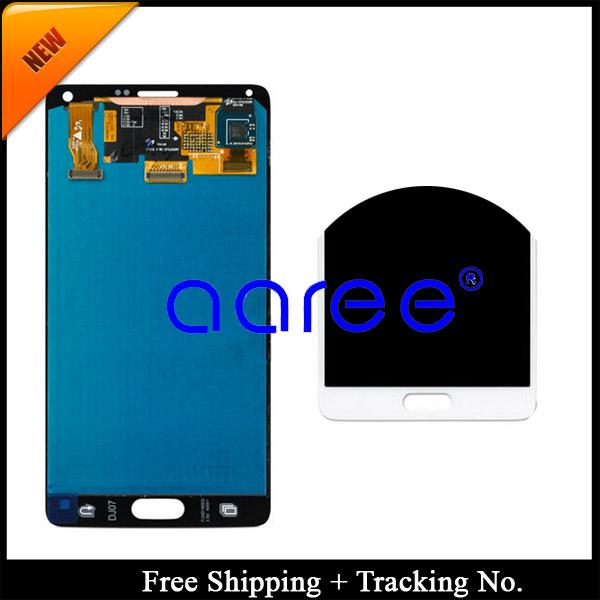 Prix pour Livraison gratuite 100% testé pour samsung galaxy note 4 lcd n9100 lcd screen display assemblée digitizer + autocollant