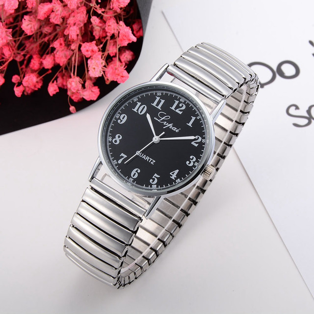 2018 New Fashion Silver Stainless Steel Couples Watch Quartz-watch Round Women d