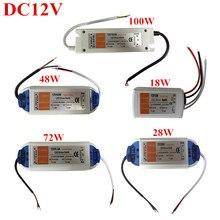 цена на Practical DC12V 18W/28W/48W/60W/72W/100W Driver Adapter Transformer Power Supply For 5050 3528 5630 LED Strip Light