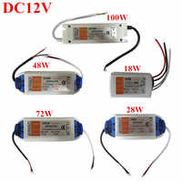 Practical DC12V 18W/28W/48W/60W/72W/100W Driver Adapter Transformer Power Supply For 5050 3528 5630 LED Strip Light