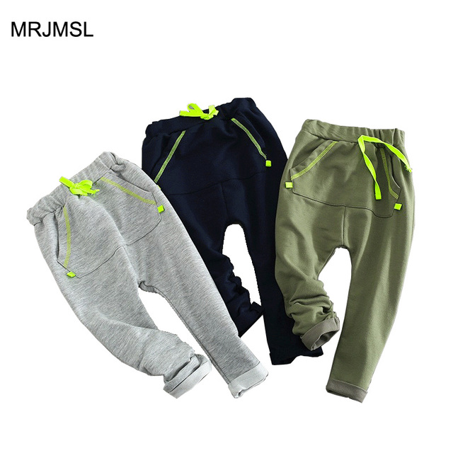 MRJMSL Hot selling size100~140 2017 kids child clothing children casual pants for boys trousers girls harem pants