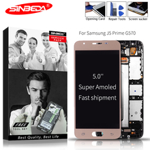 Sinbeda Super AMOLED 5.0 LCD For SAMSUNG J5 Prime 2GB/3GB RAM Display Touch Screen Digitizer Assembly G570 SM-G570F