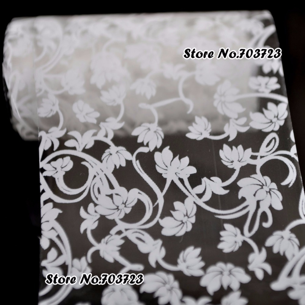 The new 2015 fashion colorful nail sticker decals transfer film nail tools Decorations White Magnolia SY622