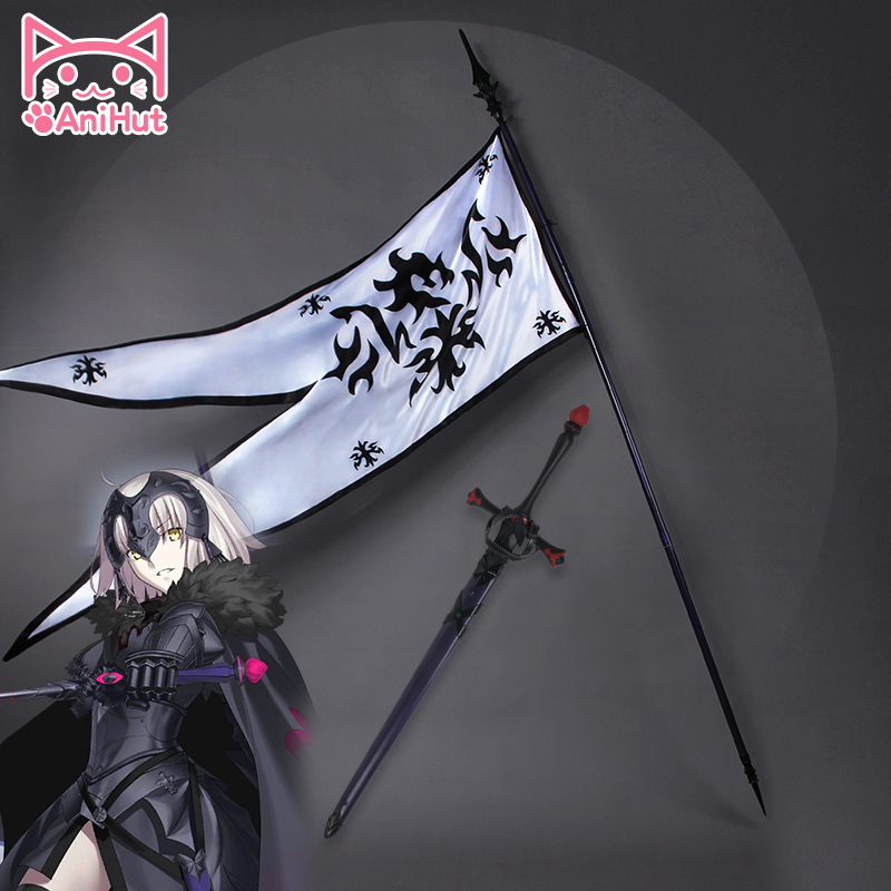 Sort Grand Ordre Modifier jeanne d'arc Cosplay Props Sort Apocryphes FGO Cosplay Prop Jeanne D'arc Épée Drapeau jeanne d'arc épée Drapeau
