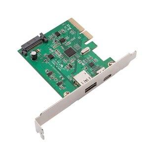 Image 4 - H1111Z PCI Express כדי USB3.1 USB C + USB3.1 סוג מארח בקר כרטיס עד USB3.1 Gen השני 10Gbps סעודת מהירות + ASM3142 ערכת שבבים