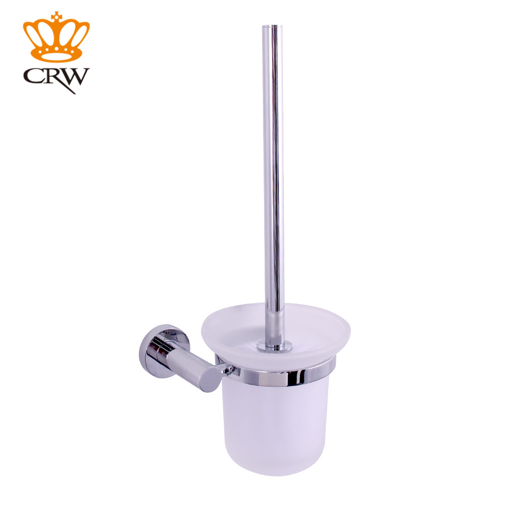 CRW Bathroom Accessories Set,Towel Bar,Toilet Brush Holder,Toilet Paper  Holder,towel Rack 4pcs/pack Pohished Chrome In Bath Hardware Sets From Home  ...