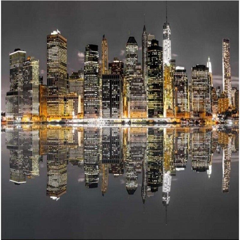 beibehang papel de parede Aesthetic New York City ...