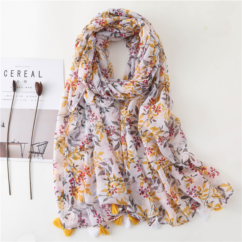 women scarf Mori girls autumn spring Japanese style fresh design long printed scarf echarpe femme hiver black friday deals image