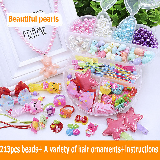 Colorful Handcraft Wear Beads Toys Diy Bracelet Toys Kids Making