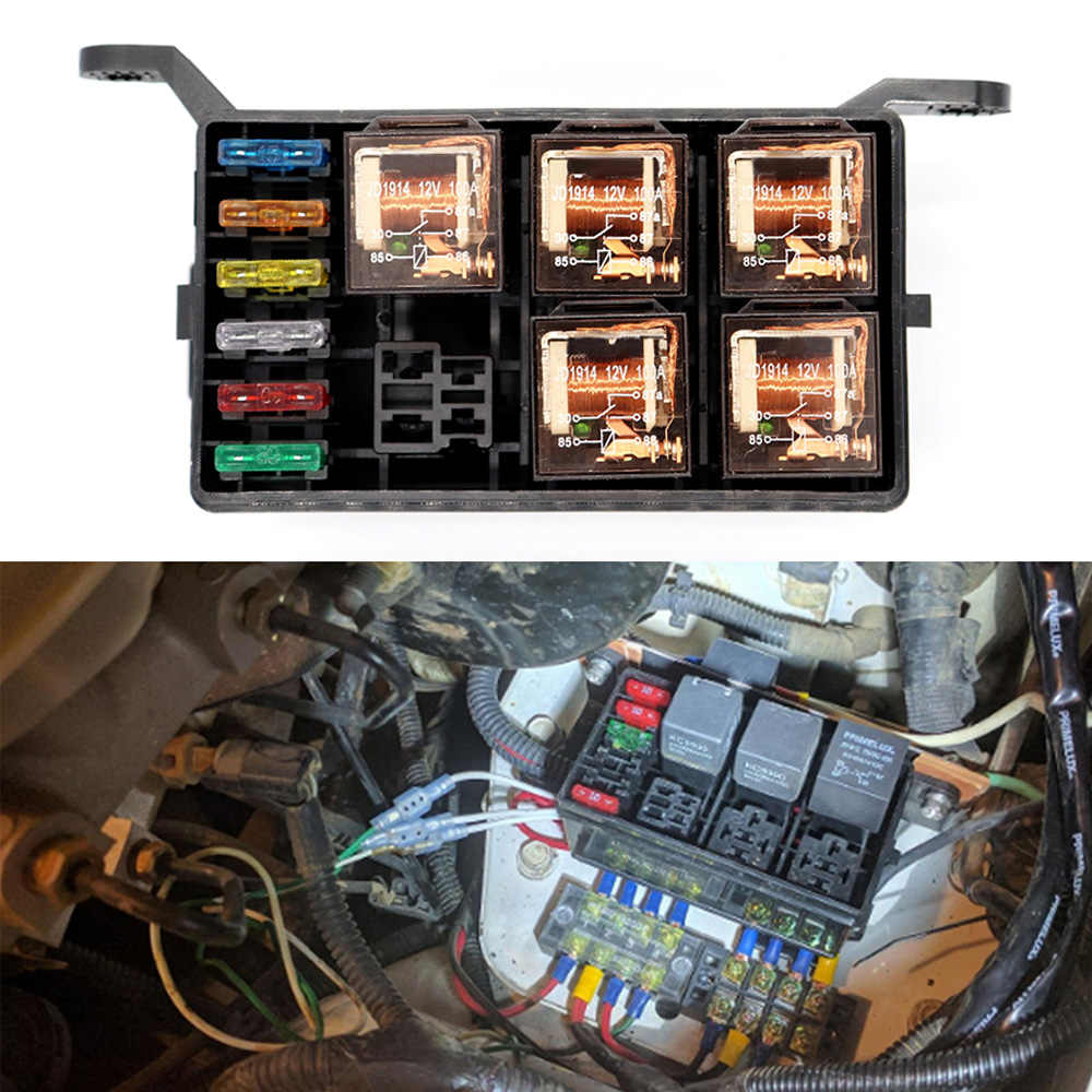 12 slot relay box 6 relays slots 6 atc ato standard fuses holder block [ 1000 x 1000 Pixel ]