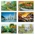 Autumn scenery The  puzzle 1000 pieces ersion paper jigsaw puzzle white card adult children's educational toys m251