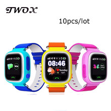 DHL10pcs/lot GPS Touch Screen WIFI Smart Watch Children Location Finder Device Anti Lost Monitor wristwatch smart baby watch Q90(China)