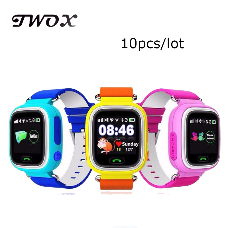 7d83fe3bd59 DHL10pcs/lot GPS Touch Screen WIFI Smart Watch Children Location Finder  Device Anti Lost Monitor wristwatch smart baby watch Q90