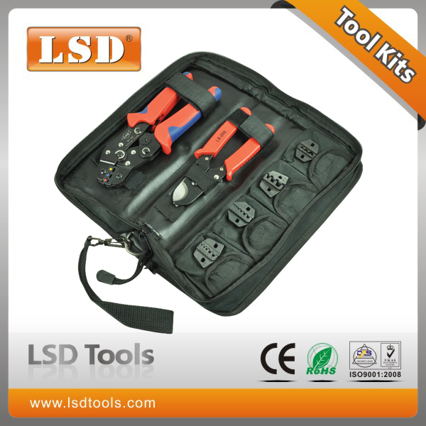 ФОТО crimping tool set with crimping tool,cable cutter and replaceable dies eletric tool kit