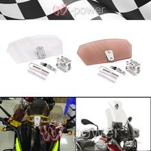 Мотоцикл Воздушный Поток Регулируемая Лобовое Стекло Болт-На Переменную Спойлер Щеток fite Для BMW R1150 R1200GS Все лобовое стекло модели