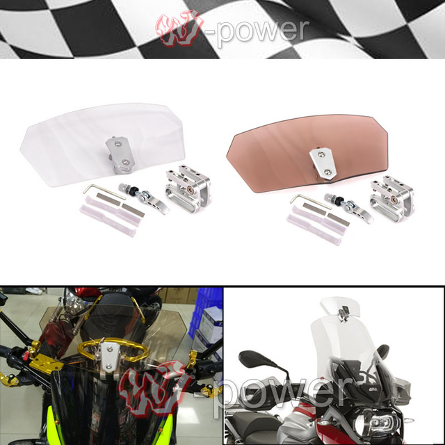 Motorcycle Airflow Adjustable Windshield Bolt-On Variable Spoiler Windshield fite For BMW R1150 R1200GS All windshield models