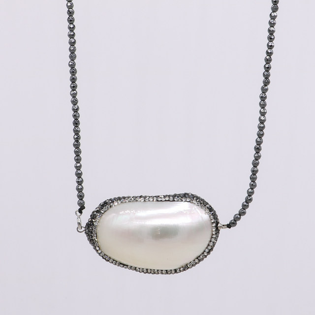 Online shop natural shell pearl necklace big pendant necklace druzy natural shell pearl necklace big pendant necklace druzy necklace natural 2 mm hematite necklace gems jewelry for women 586 mozeypictures Choice Image