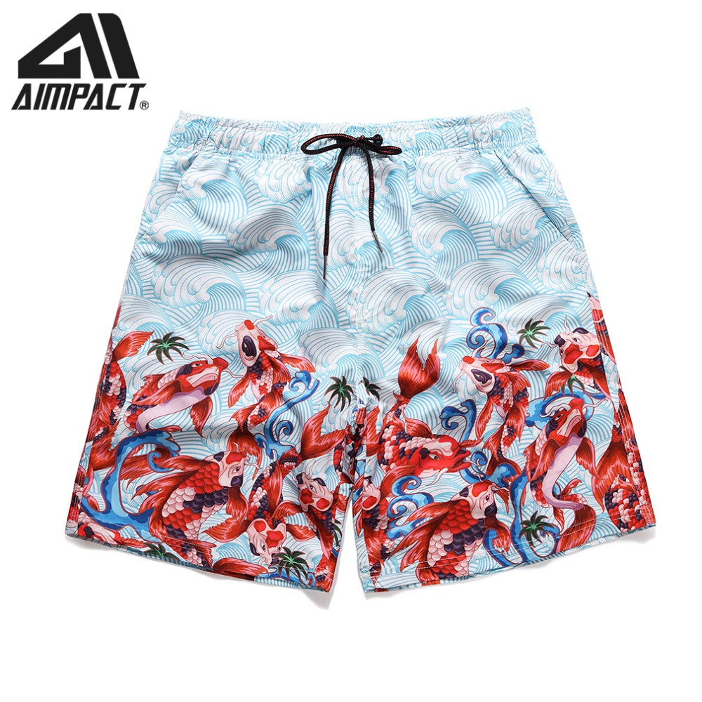 2019 New Mens Swim Trunks Quick Dry 3D Print Fish Casual Summer Beach   Board     Shorts   with Pocket&Drawstring for Men AM2181