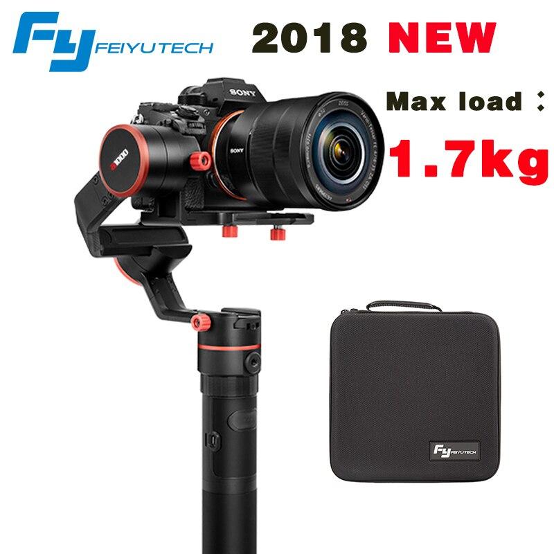 2018 DATE FeiyuTech feiyu a1000 3 Axes Cardan Stabilisateur De Poche pour NIKON SONY CANON DSLR Caméra Gopro Action 1.7 kg charge utile