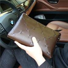 Autumn new wave of men and women lengthened wallet Korean long section of double zipper wallet zipper bag Clutch