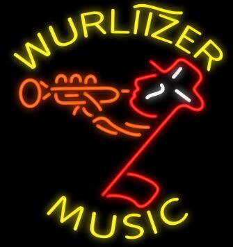 Wurlitzer musique verre néon signe barre de bière