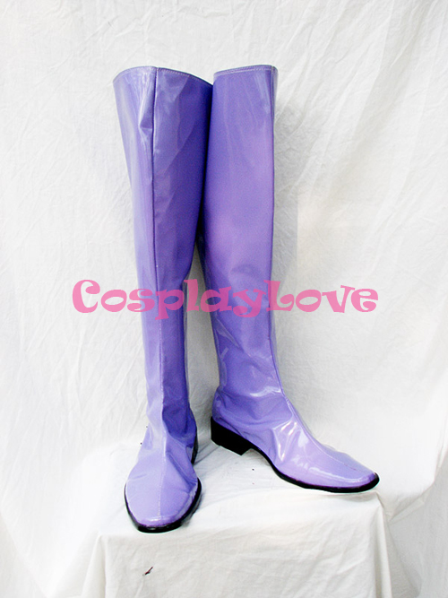 Gundam Seed Gihren Zabi Purple Cosplay Shoes Boots Hand Made Custom-made For Halloween Christmas CosplayLove