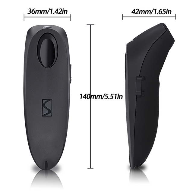 2D Bluetooth Wireless Barcode Scanner,Symcode USB 2.4G Wireless Bluetooth Barcode Reader with Charge Base 1