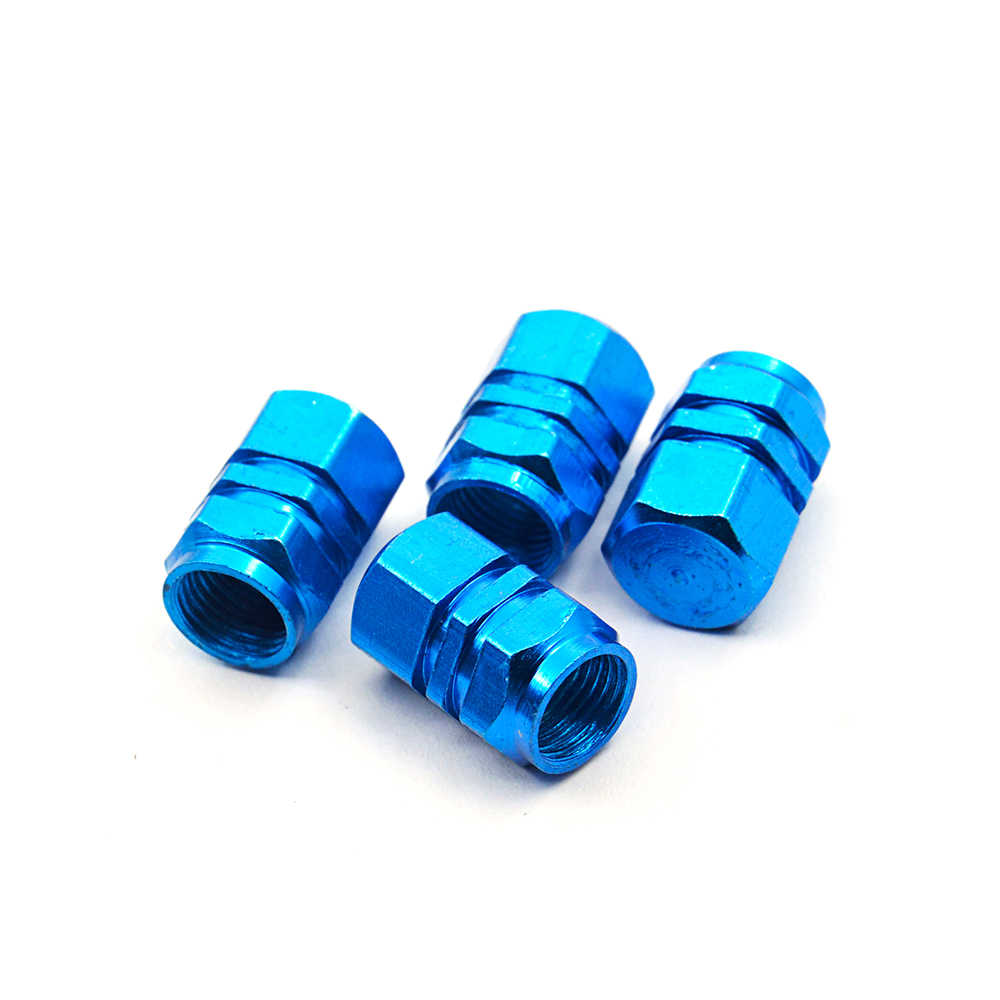 Auto car-styling New Arrival 4pcs/pack Theftproof Aluminum Car Wheel Tires Valves Tyre Stem Air Caps Airtight Cover