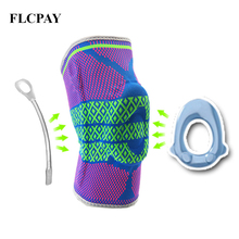 1Pcs Knee Brace Sleeves-Breathable Compression for Kneepad Silicon Meniscus Tear Joint Pain Relief Sports Injury Recovery