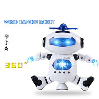 Baby Toys Cute Electric Music Light Dancing Robot Smart Space Dance Robot Walking Toys Gift For