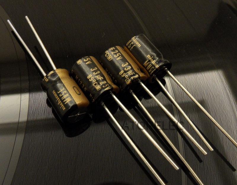 6 pcs Nichicon MUSE ES 25v 100uf Audio Grade Bi-polar