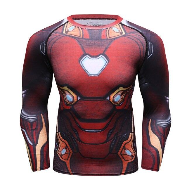 0558d0782ba Dropwow Compression shirt 3D Printed marvel Superhero Fitness ...