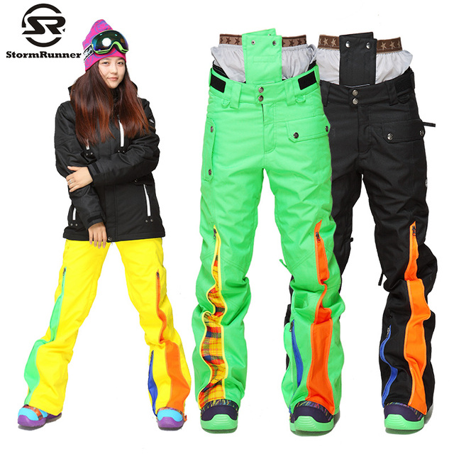 8432143f7930c StormRunner Snow Ski pants colorful high quality snow pants women s outdoor  sport pants warm thick trousers for girls