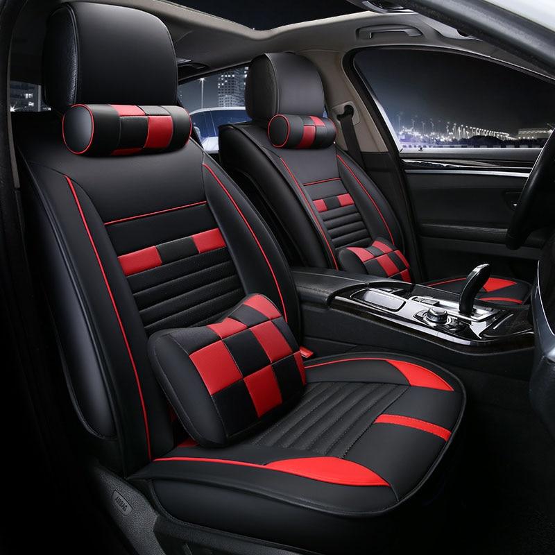 Universal car seat cover seats covers leather for Lancia Delta Ypsilon dedra kappa lybra prisma thema thesis y10