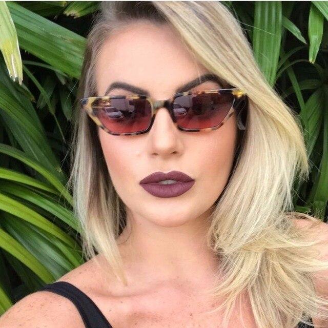 672da74c287 Vintage Sunglasses Women Cat Eye Luxury Brand Mirror lens Sun Glasses trend  Leopard ladies Sunglass Black Eyewear oculos UV400