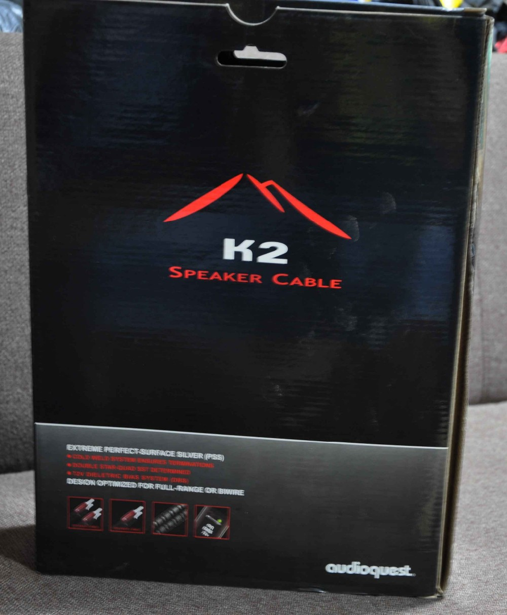 Free shipping 3meter K2 speaker cable free update NEW 72V DBS silver Banana plug original box цена и фото