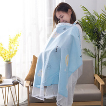 Mother Breastfeeding Cover 100% Cotton Baby Nursing Covers Breathable Outdoor Ultra-thin Nursing Baby Shawl Feeding Cover