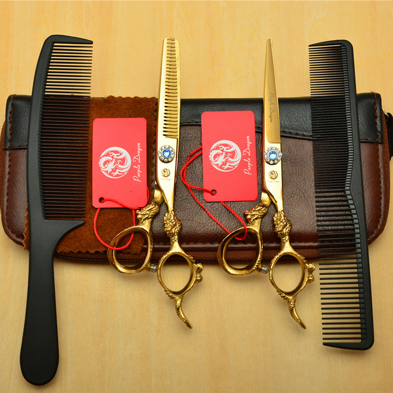 2017 Professional 6.0 inch Hair Scissors Hairdressing Scissors Cutting Thinning Scissors Styling Tools Barber Shears Cutting 6 inch 32 teeth hairdressing thinning hair scissor professional with leather bag barber shop hairdresser shears tools hk632vyb