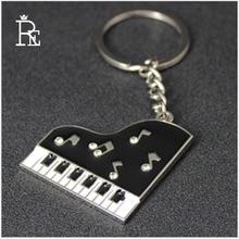 RE 100pcs/Lot Wholesale Top New Creative Business Advertising Gifts rhinestone Epoxy piano keychain Key Chains Customize Logo