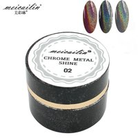 New 1g Laser Silver Shiny Powder Magic Mirror Powder Dust Nail Glitters DIY Nail Art Sequins