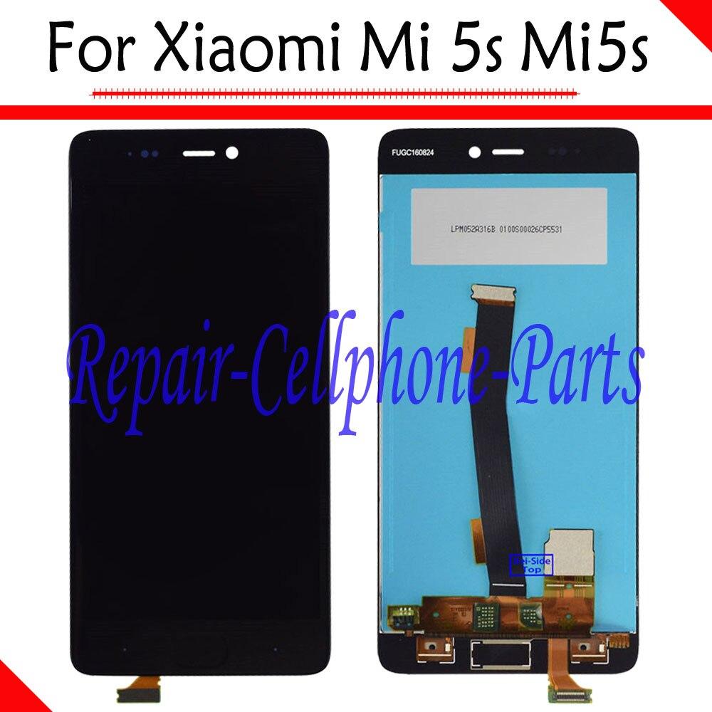 Noir nouveau lcd full display + écran tactile digitizer assemblée remplacement pour xiaomi mi 5S mi5s livraison gratuite avec numéro de suivi
