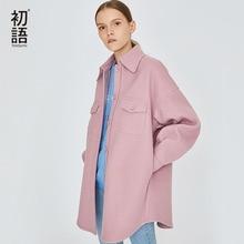 Blends und warme Frauen Mäntel Winter Cashmere Mäntel plus Cashmere verdicken Mantel Casual Strickjacke Wolle rosa grau Jacke Jacken xoWedCBr