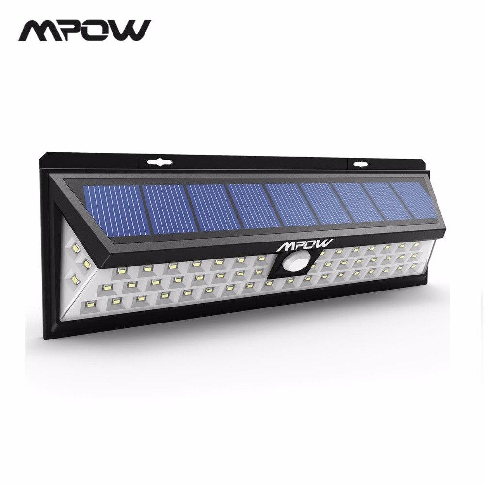 Mpow CD020 IP65 54 LEVOU Noite Luz Luzes Solares À Prova D' Água Grande Angular LEVOU Movido A Energia Solar Lâmpada de Parede Ao Ar Livre Para Jardim quintal Pátio