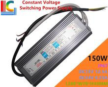 150W Constant Voltage Switching Power Supply 12V 24V IP67 Waterproof LED Driver Adapter 12A 6.25A Lighting Transformer 110V 220V