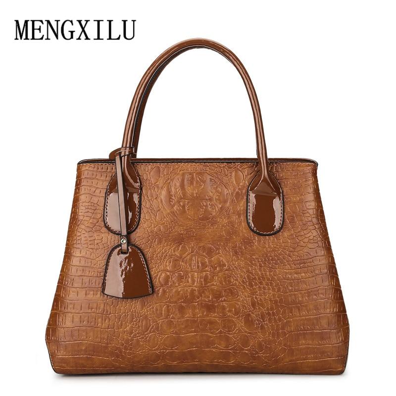 Vintage Shoulder Bag Women Bag Designer Crocodile Print Tote Bags female Handbag Women Famous Brand PU Leather Luxury Handbags